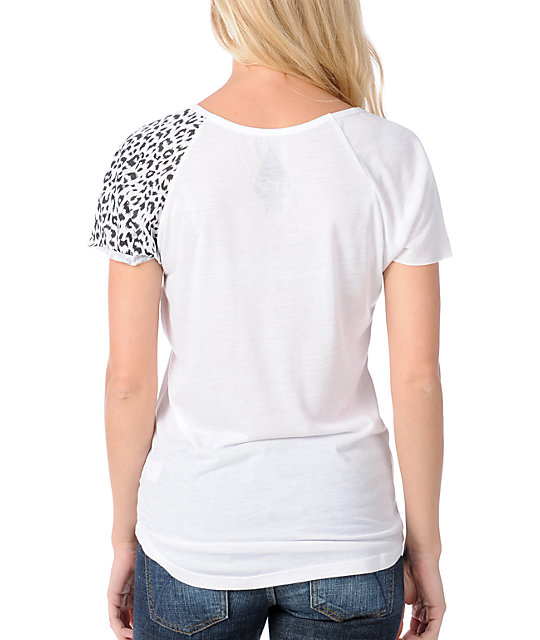 Volcom Act Naturally Butterfly Scoop Neck T-Shirt