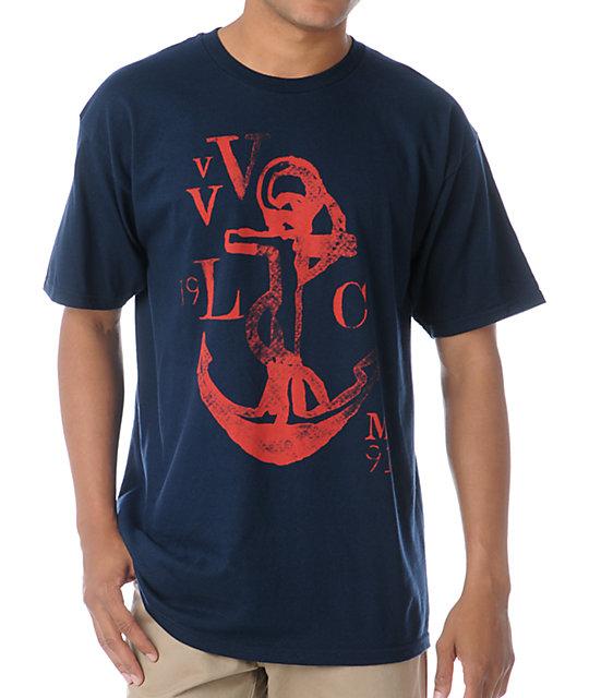 Volcom Ahoy Matey Navy Blue T-Shirt