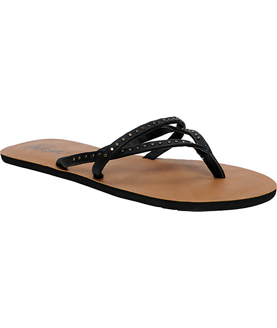 Volcom All Day Long Black Creedler Sandals
