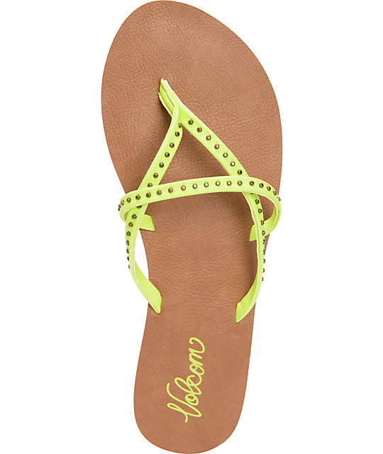 Volcom All Day Long Lime Sandals
