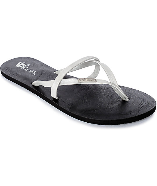 Volcom All Night Long Silver Sandals