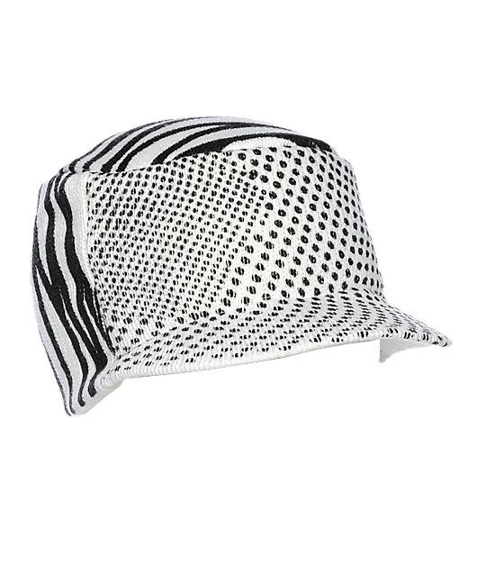 Volcom Angle Stripe White & Black Visor