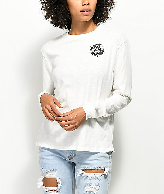 Volcom Arm Candy White Long Sleeve T-Shirt