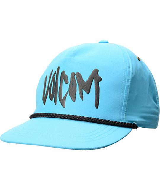 Volcom Attitude Adjust Turquoise Strapback Hat