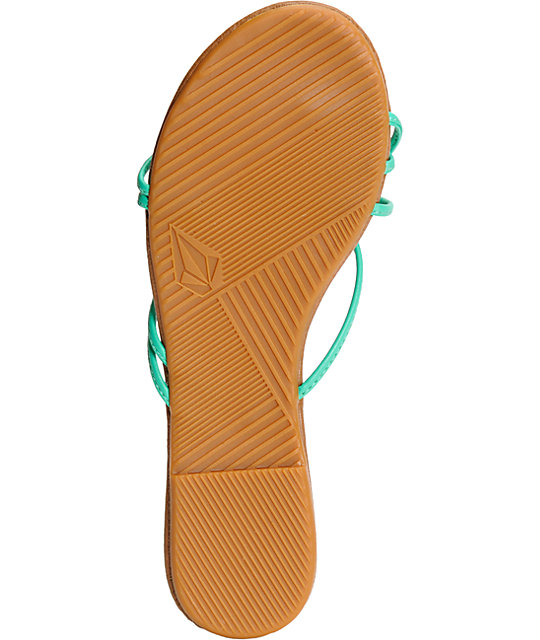 Volcom Awesome Aqua & Brown Sandals
