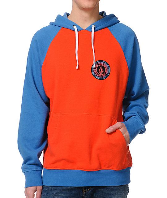 Red vs blue hoodie