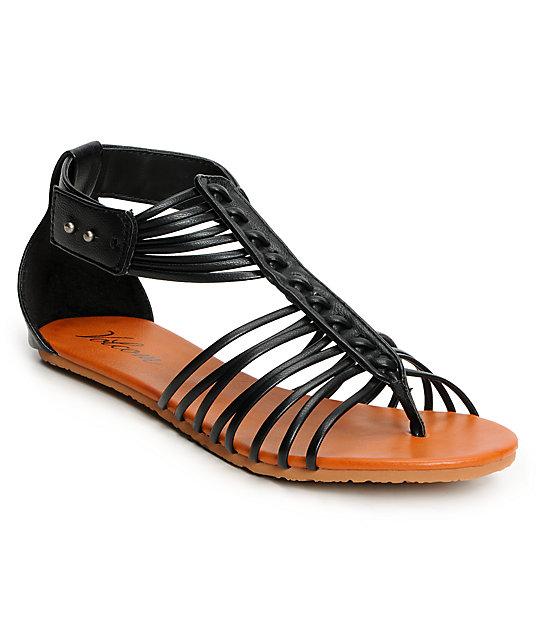 Volcom Be Nice Black Sandals