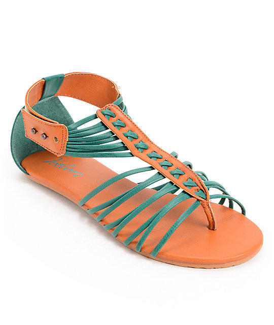 Volcom Be Nice Dark Turquoise Sandals