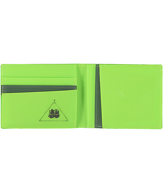 Volcom Beer Money Green Bifold Wallet