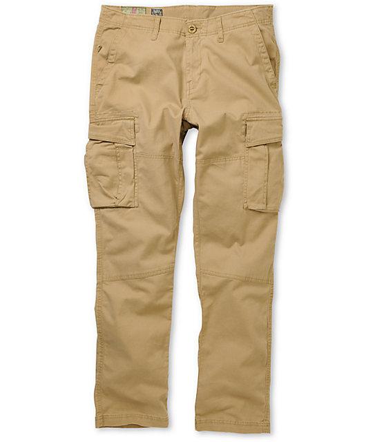 Volcom Bettaga Regular Fit Dark Khaki Cargo Pants