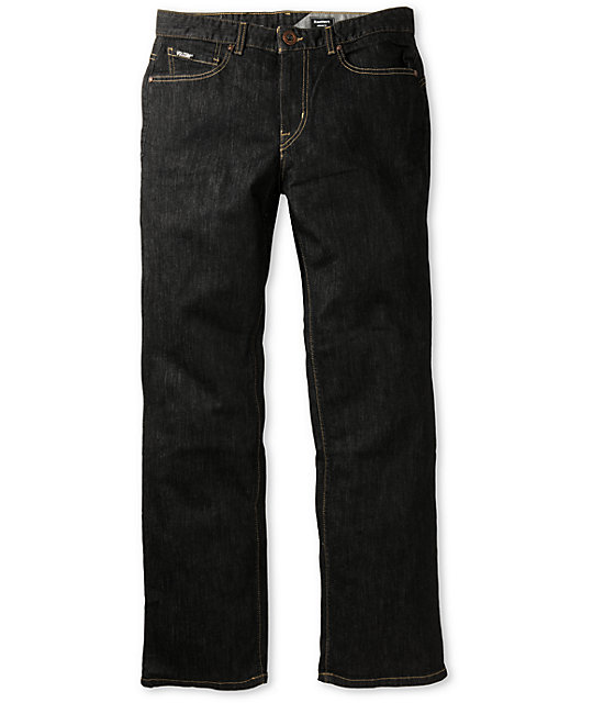 Volcom Black Bart Black Rinser Regular Fit Jeans