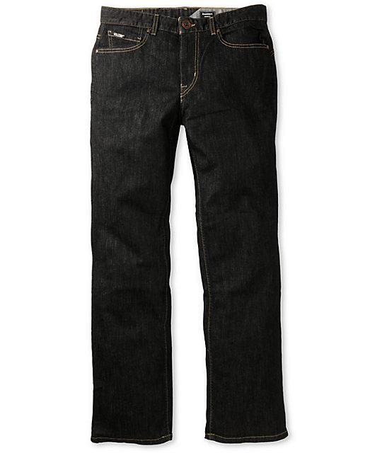 Volcom Black Bart Black Rinser Regular Fit Jeans