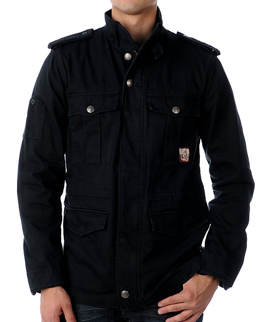 Volcom Bondi Black Military Jacket