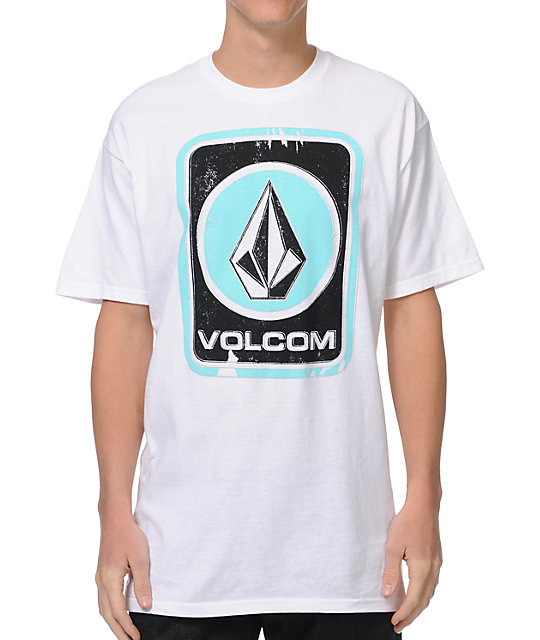 Volcom Box Stain White T-Shirt