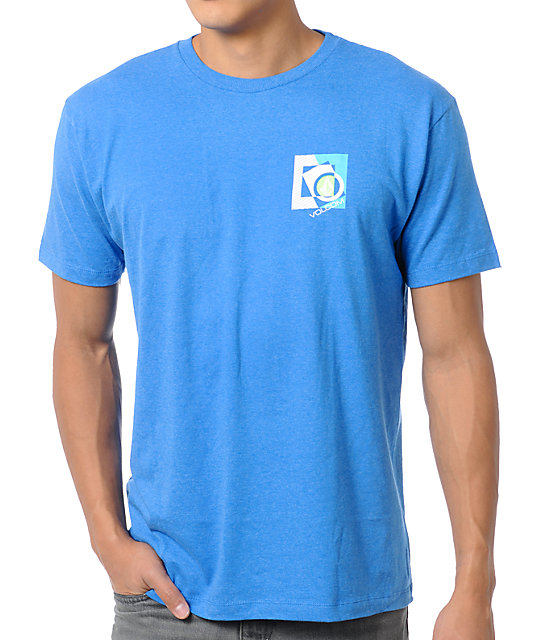 Volcom Boxicle Heather Blue T-Shirt