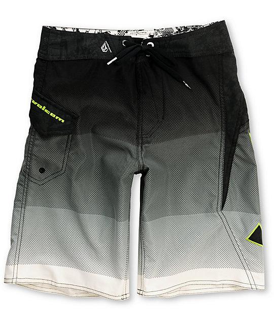 Volcom Boys 2EEZ Fade Black Board Shorts