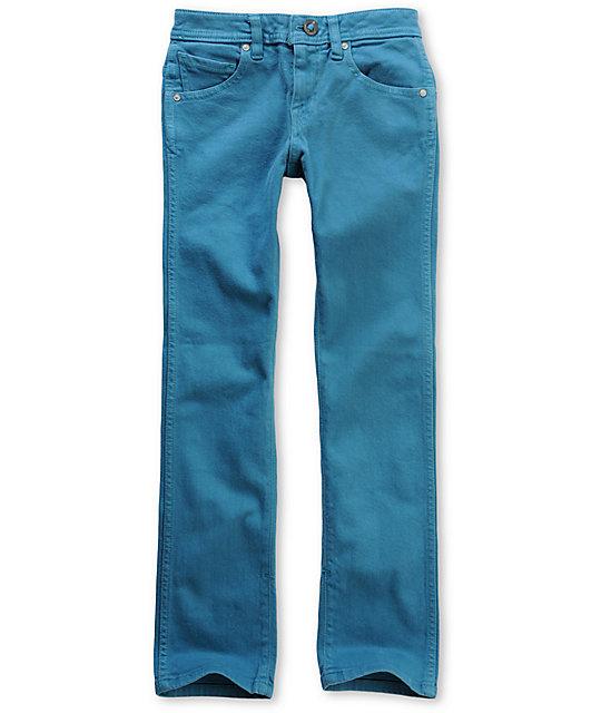 Volcom Boys 2x4 Bright Blue Jeans