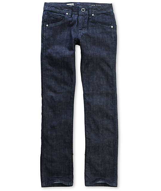 Volcom Boys 2x4 DIY Dark Blue Jeans