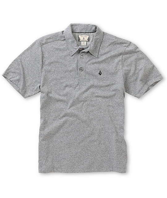 Volcom Boys Bangout Grey Speckle Polo Shirt