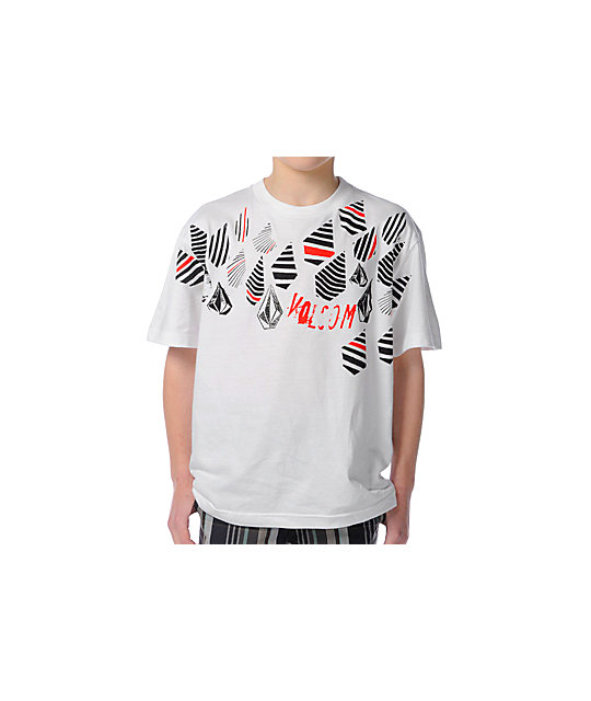 Volcom Boys Bowling Stones White T-Shirt