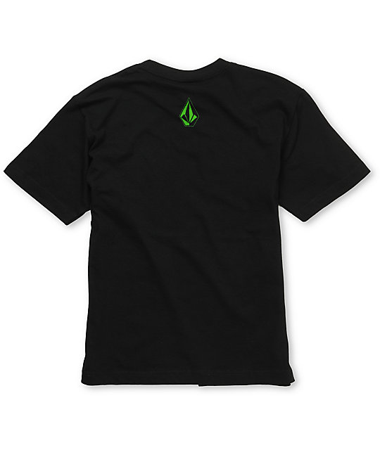 Volcom Boys Broken Black T-Shirt