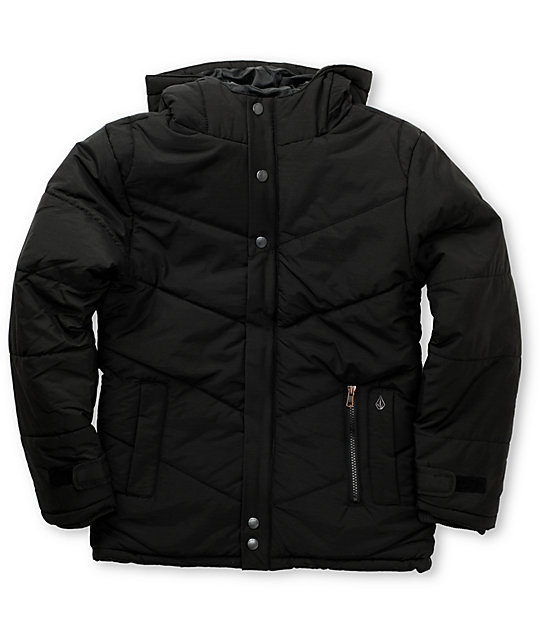 Volcom Boys Brostache Black Jacket