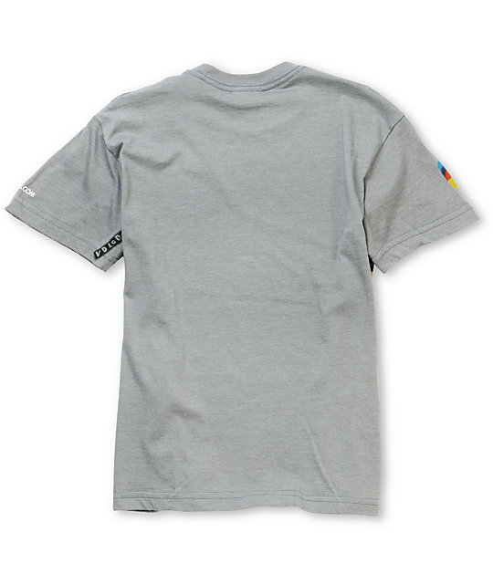 Volcom Boys Channel 9 Grey T-Shirt
