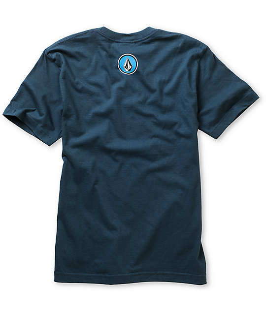 Volcom Boys Cognito Navy Blue T-Shirt