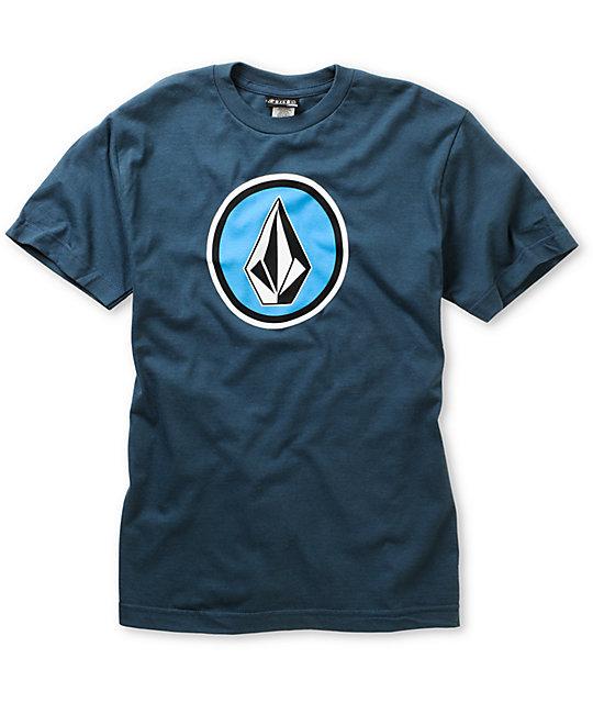 Volcom Boys Cognito Navy Blue T-Shirt
