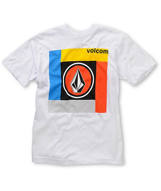 Volcom Boys Cover Shot White T-Shirt