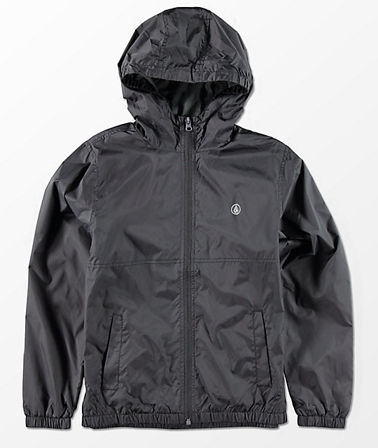 Volcom Boys Ermont Black Windbreaker Jacket