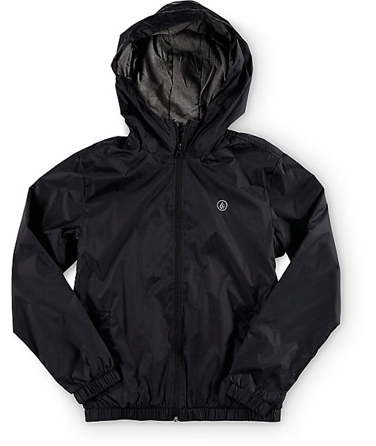 Boys Ermont Black Windbreaker Jacket