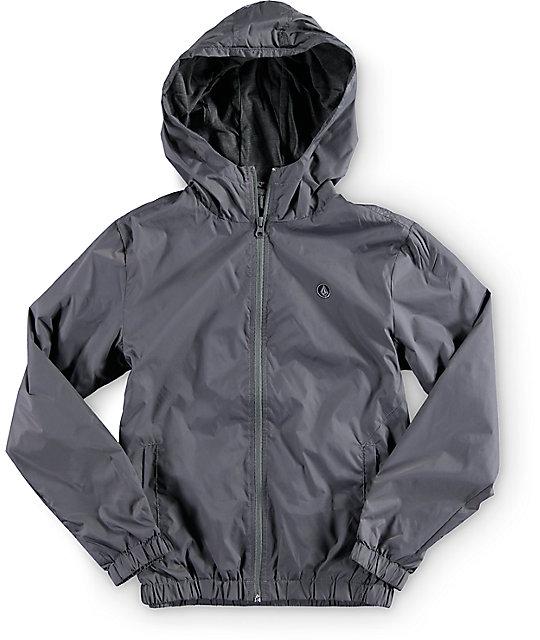 Volcom Boys Ermont Grey Windbreaker Jacket | Zumiez
