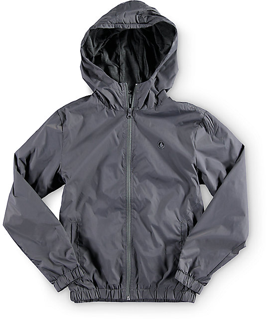 Volcom Boys Ermont Grey Windbreaker Jacket at Zumiez : PDP