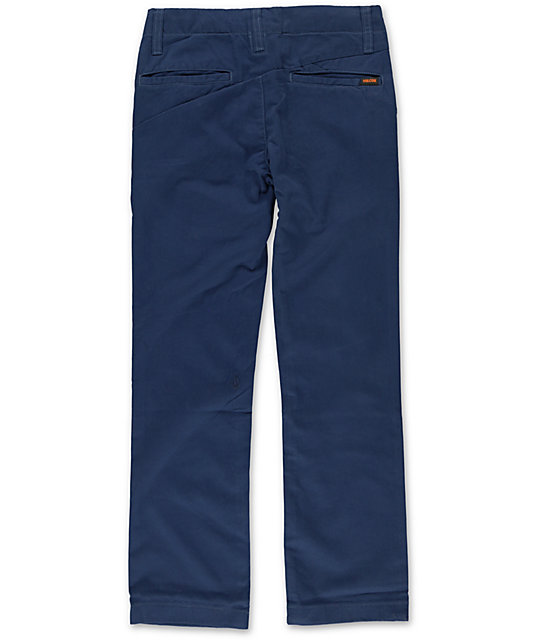 Volcom Boys Faceted Navy Slim Fit Pants