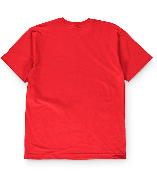 Volcom Boys Fade Red T-Shirt