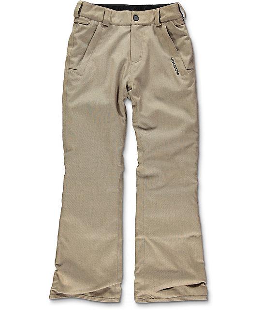 Volcom Boys Freakin Chino 10k Snowboard Pants