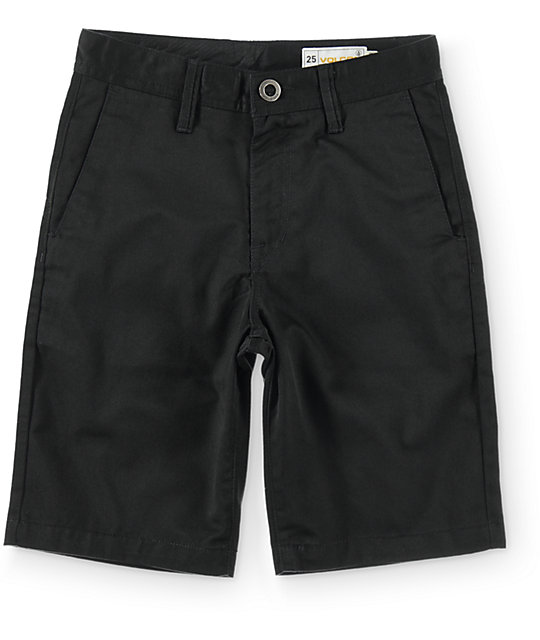 Volcom Boys Frickin Black Chino Shorts