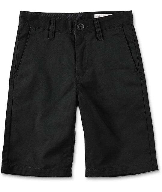Volcom Boys Frickin Black Chino Shorts