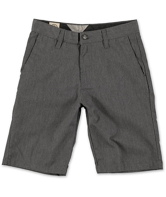 Volcom Boys Frickin Charcoal Chino Shorts