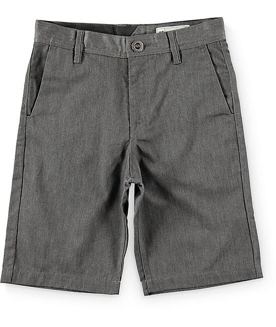 Volcom Boys Frickin Charcoal Chino Shorts
