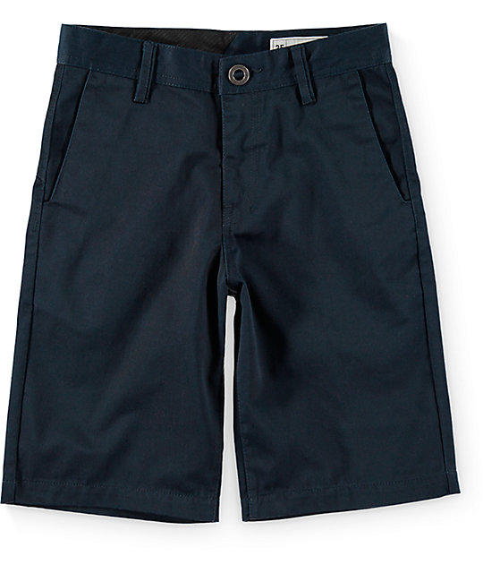 Volcom Boys Frickin Dark Navy Chino Shorts