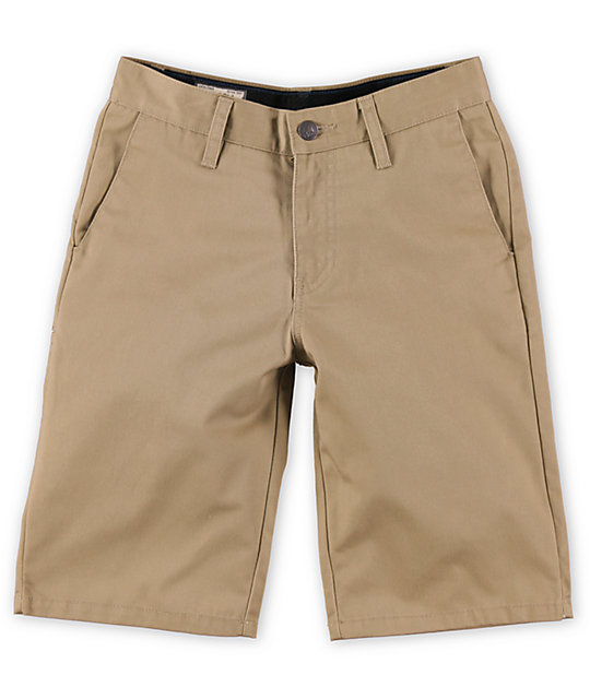 Volcom Boys Frickin Khaki Chino Shorts