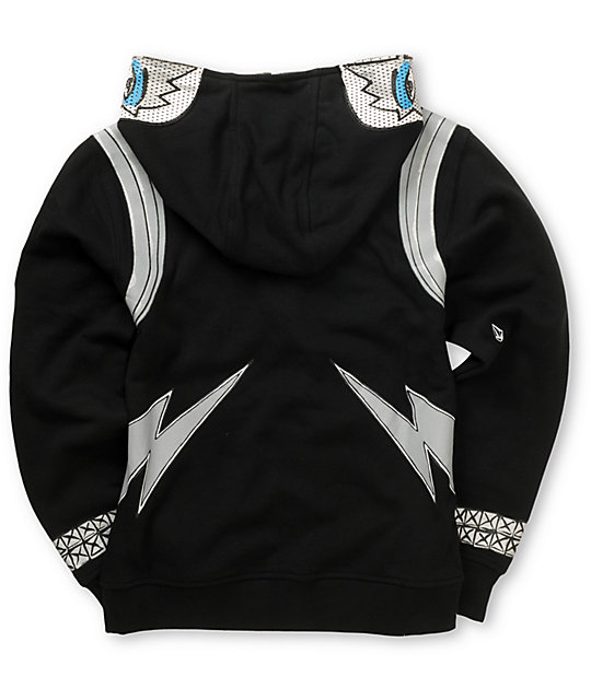 Volcom Boys Kiss Zip Up Tommy Thayer Face Mask Hoodie