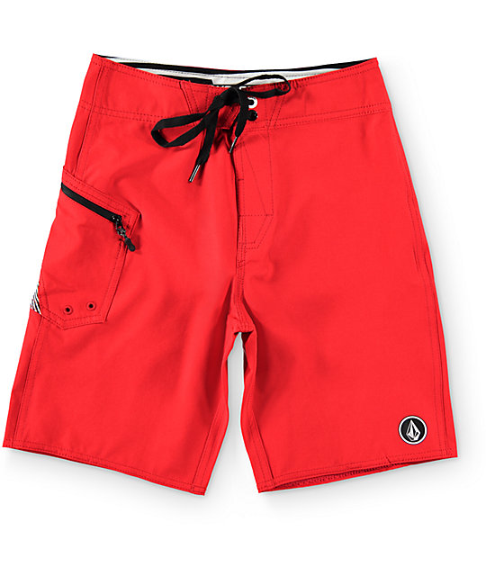 Boys Lido Solid Red 18