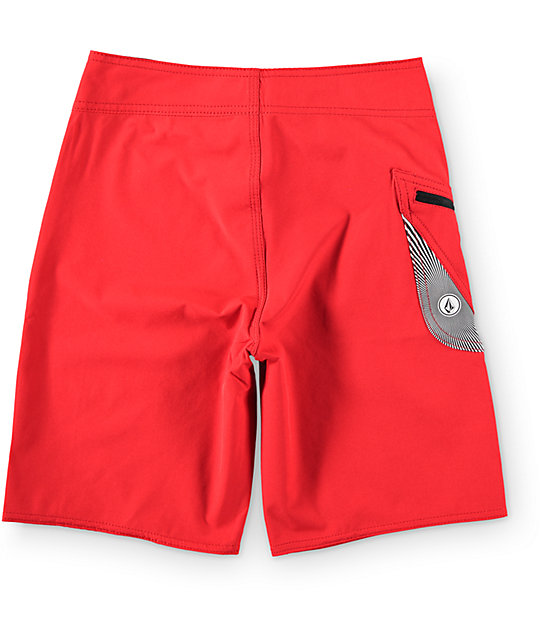 "Volcom Boys Lido Solid Red 18""  Board Shorts"