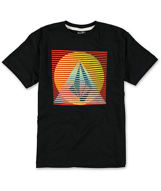 Volcom boys line pyramid black t shirt for Black pyramid t shirts for sale