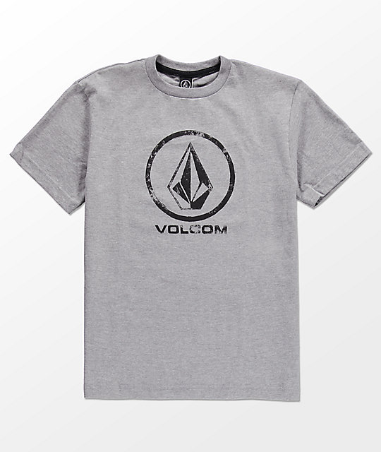 Volcom Boys Lino Stone Grey T-Shirt