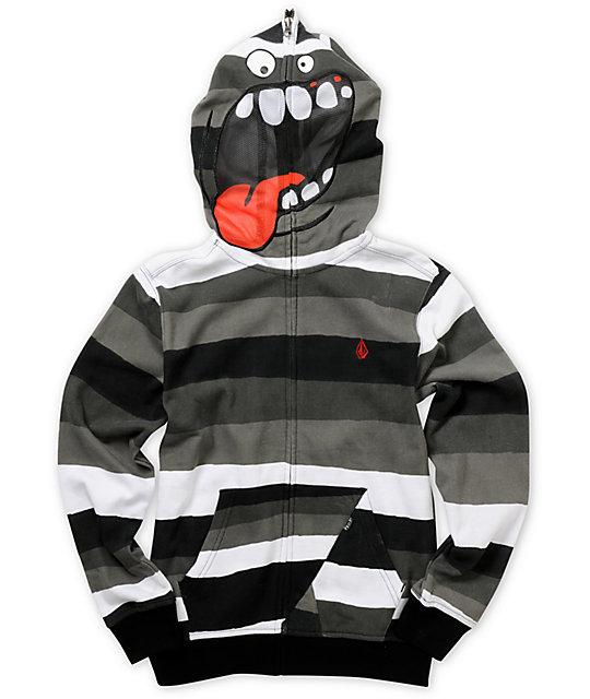 Volcom Boys Magmouf Stripe Face Mask Hoodie