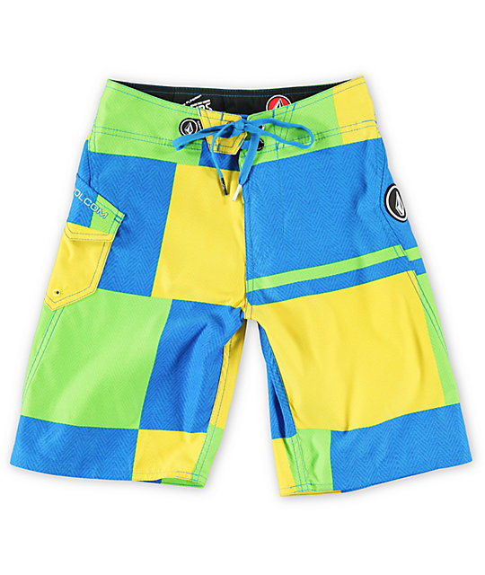 Volcom Boys Maguroblock Yellow Board Shorts